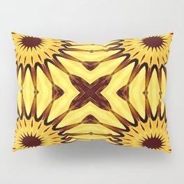 Sunflowers Yellow & Brown Pinwheel Flowers Pillow Sham