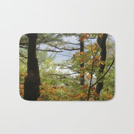 Columbia Rover Gorge Washington Trees in Autumn Bath Mat