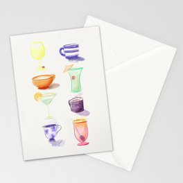 Cups Stationery Cards