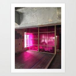 Pink Neon Art Print