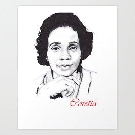 Coretta Art Print