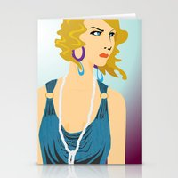 the great gatsby Stationery Cards featuring Gatsby by David Sparvero