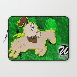 Female Horseback Rider Cartoon Character with Pony Tail Laptop Sleeve