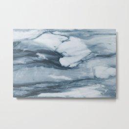 Ocean Deep Marble Metal Print