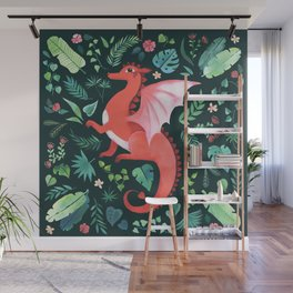 Tropical Dragon Wall Mural