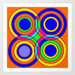 couleurs et cercles Art Print