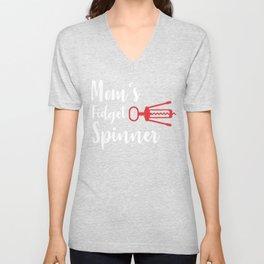 Witty Mom Novelty Moms Fidget Spinner Corkscrew Best Mothers Day Gift Unisex V-Neck