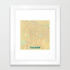 Tucson Map Retro Framed Art Print