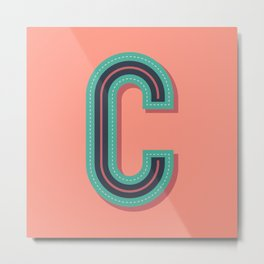 Typography series #C Metal Print