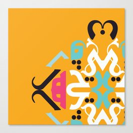 Orange Arabic Canvas Print