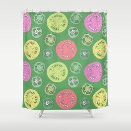 Jalapeno Tomato Shower Curtain