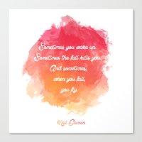 neil gaiman Canvas Prints featuring Neil Gaiman by Divya Tak