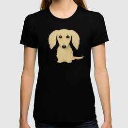 Longhaired Cream Dachshund T-shirt
