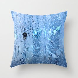 ice pattern 3 Throw Pillow