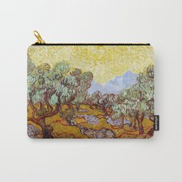 Van Gogh - Olive Trees with yellow sky and sun Carry-All Pouch