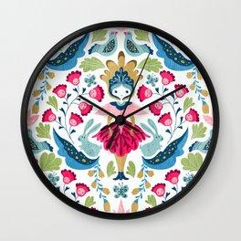 Svedish doll Wall Clock