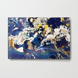 Deep Blue Unity Metal Print