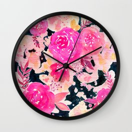 Pink In the Dark Wall Clock