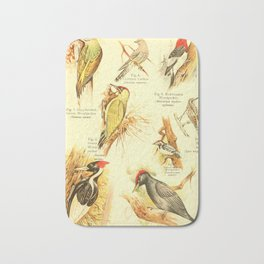William Playne Pycraft - A Book of Birds (1908) - Plate 23: Woodpeckers Bath Mat