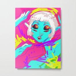 Alien in Love Metal Print