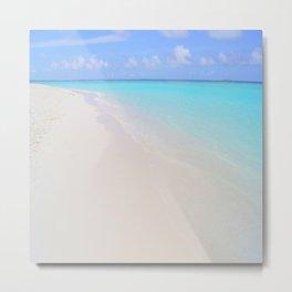 beach (Maldives White Sand Beach) Metal Print