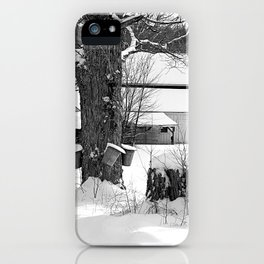 The beginning of Maple syrup season iPhone Case