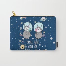 OUT OF THIS WORLD SPACE UNICORNS Carry-All Pouch