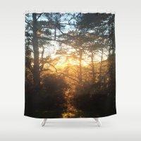 golden Shower Curtains featuring Golden by Stefari