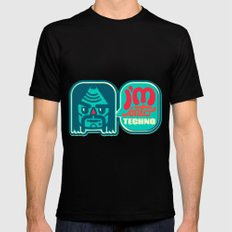 I'm Into Techno Black SMALL Mens Fitted Tee