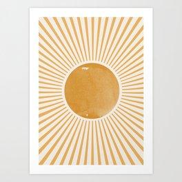 Sunshine Yellow Art Art Print