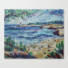 Beach & Lighthouse @ St Croix Canvas Print