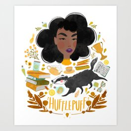 Hufflepuff House Illustration Art Print