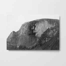 Half Dome in Black and White Metal Print