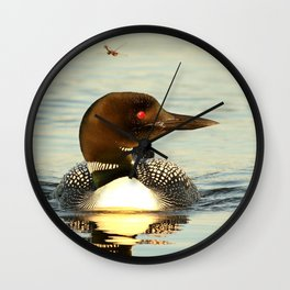 Loon and her dragonfly friend Wall Clock