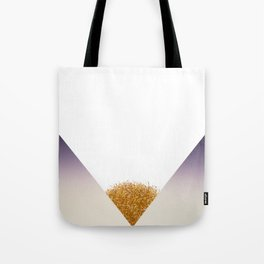 Purple gradient triangle with golden grass by artist Larry Simpson Tote Bag