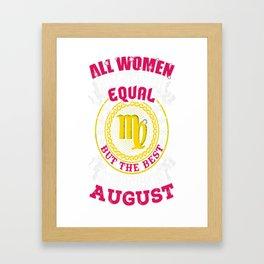Best-Women-Born-In-August-Virgo---Sao-chép Framed Art Print