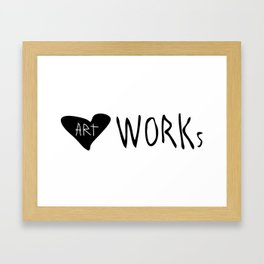 heART Works Framed Art Print
