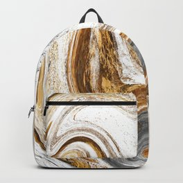 Wet Swirled Paint in Neutrals Backpack