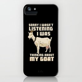 Goat Lover iPhone Case