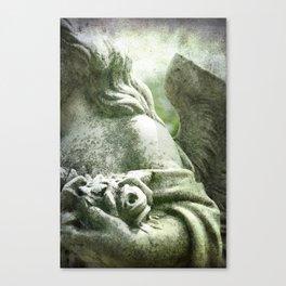 Angelic Cherub Looks Over The Headstones Canvas Print