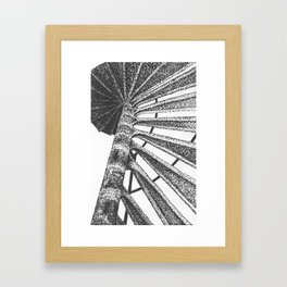 Cape Henry Lighthouse Spiral Stairs Framed Art Print