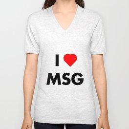 I Heart MSG Unisex V-Neck