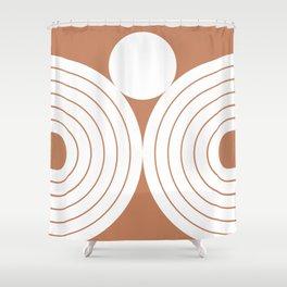 Abstraction_Balance_Shape_001 Shower Curtain