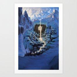 Temple of Snow Art Print
