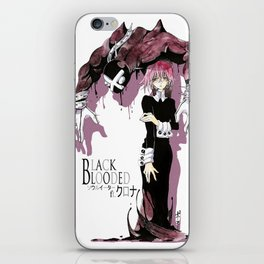 Black Blooded / White iPhone Skin