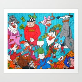 Mature Duck Tales Horror Fanart Art Print
