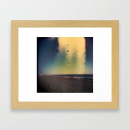 2D Beach Framed Art Print