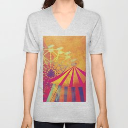 The Fair is in Town - Kitschy Abstract Watercolor Unisex V-Neck