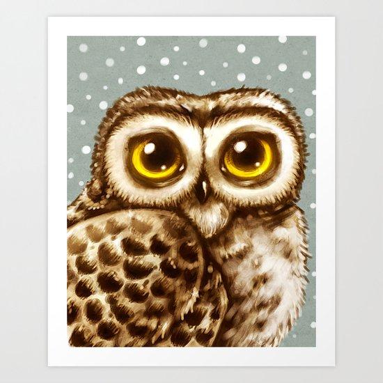 Owl Face Art Print