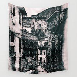 Italian village Wall Tapestry